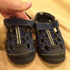 GUC Size 11 Boy Blue & Green Velcro Sandals
